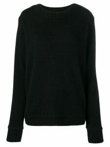 The Elder Statesman oversized crewneck sweater - Black