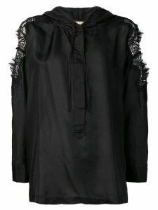 Gold Hawk blouse with lace details - Black