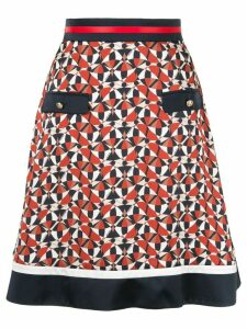 Loveless geometric print skirt - Brown