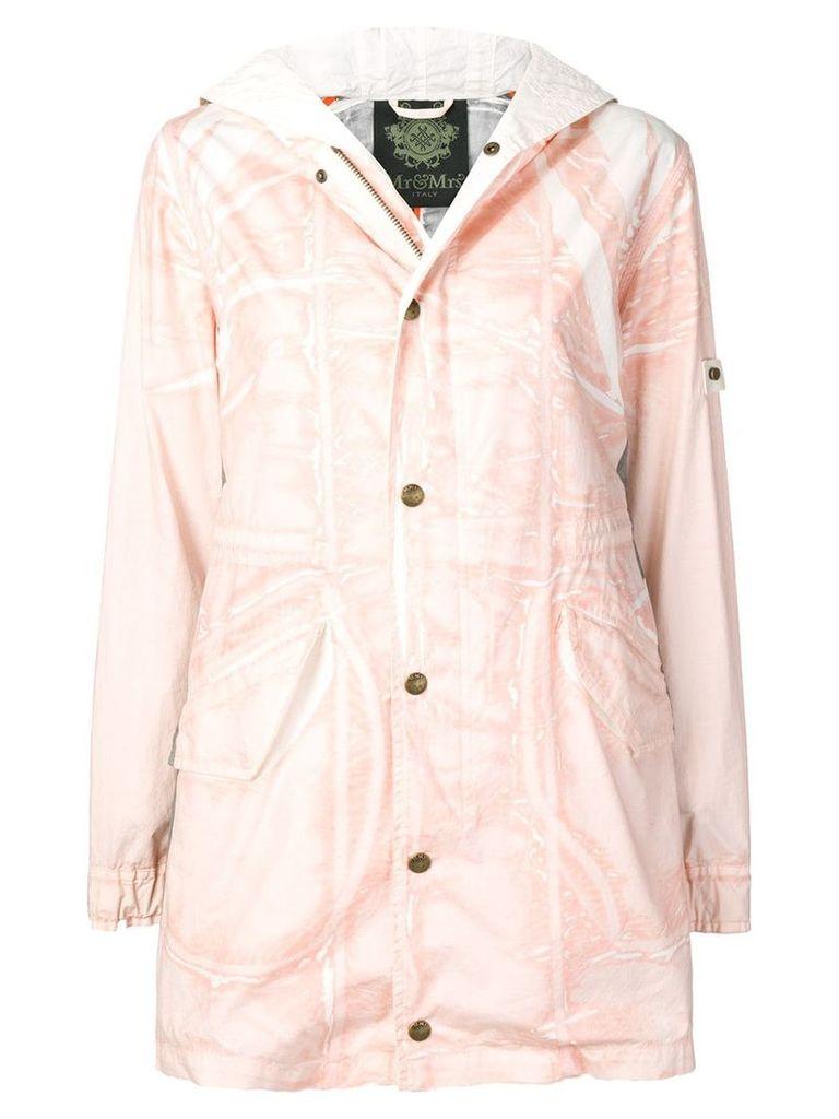 Mr & Mrs Italy Jungle printed parka coat - Pink