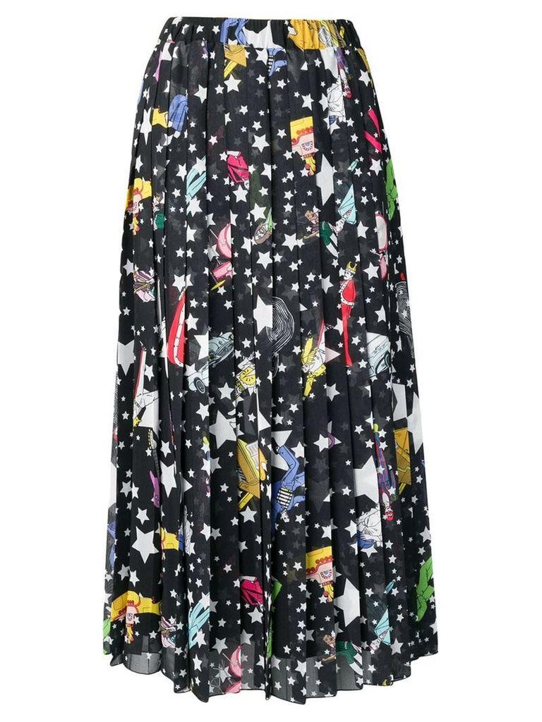 Ultràchic Paradise print pleated skirt - Black