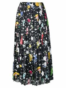Ultràchic Paradise print pleated skirt - Black
