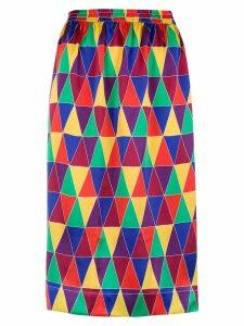 Reinaldo Lourenço geometric print skirt - Multicolour