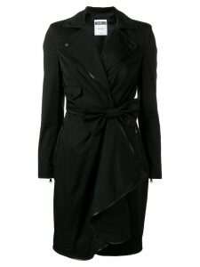 Moschino bow wrap dress - Black