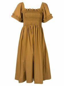 Molly Goddard brown Adelaide dress