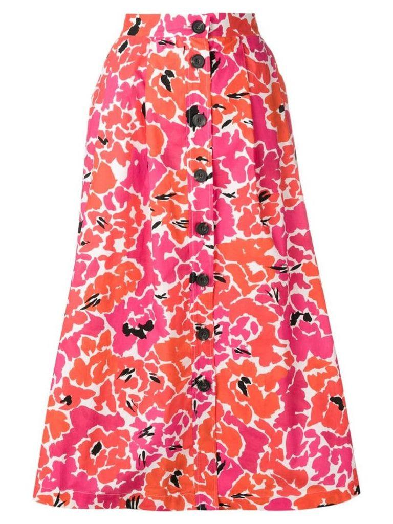 Isa Arfen floral print midi skirt - Pink
