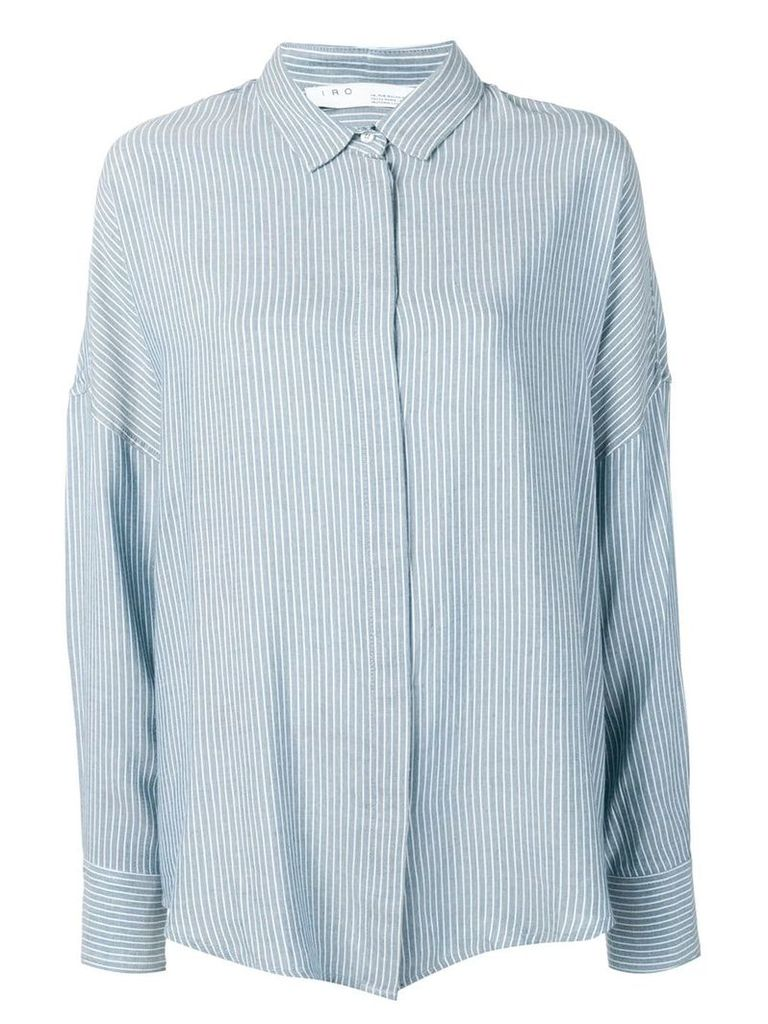Iro striped button shirt - Blue