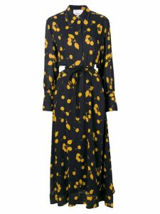 3.1 Phillip Lim printed maxi shirt dress - Black