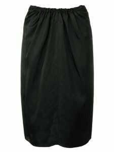 Jil Sander ruched pencil skirt - Black