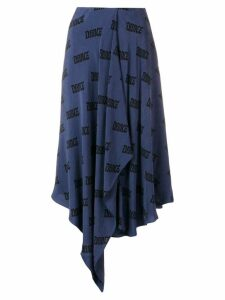 Acne Studios dance scarf skirt - Blue