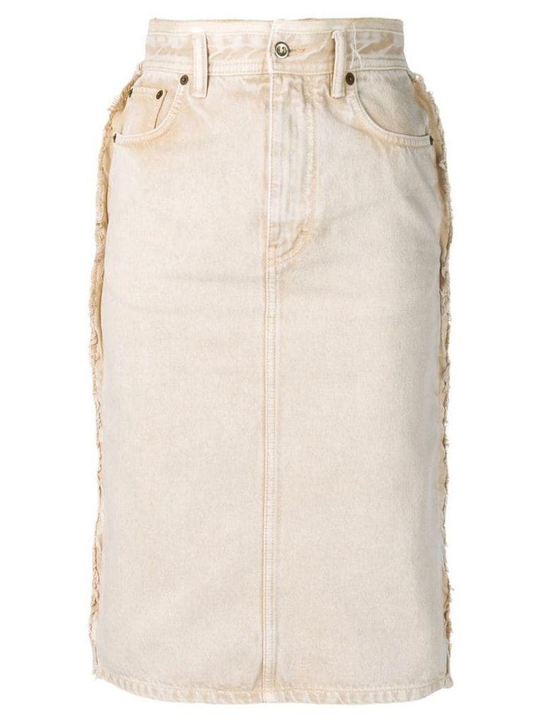 Acne Studios denim pencil skirt - Neutrals
