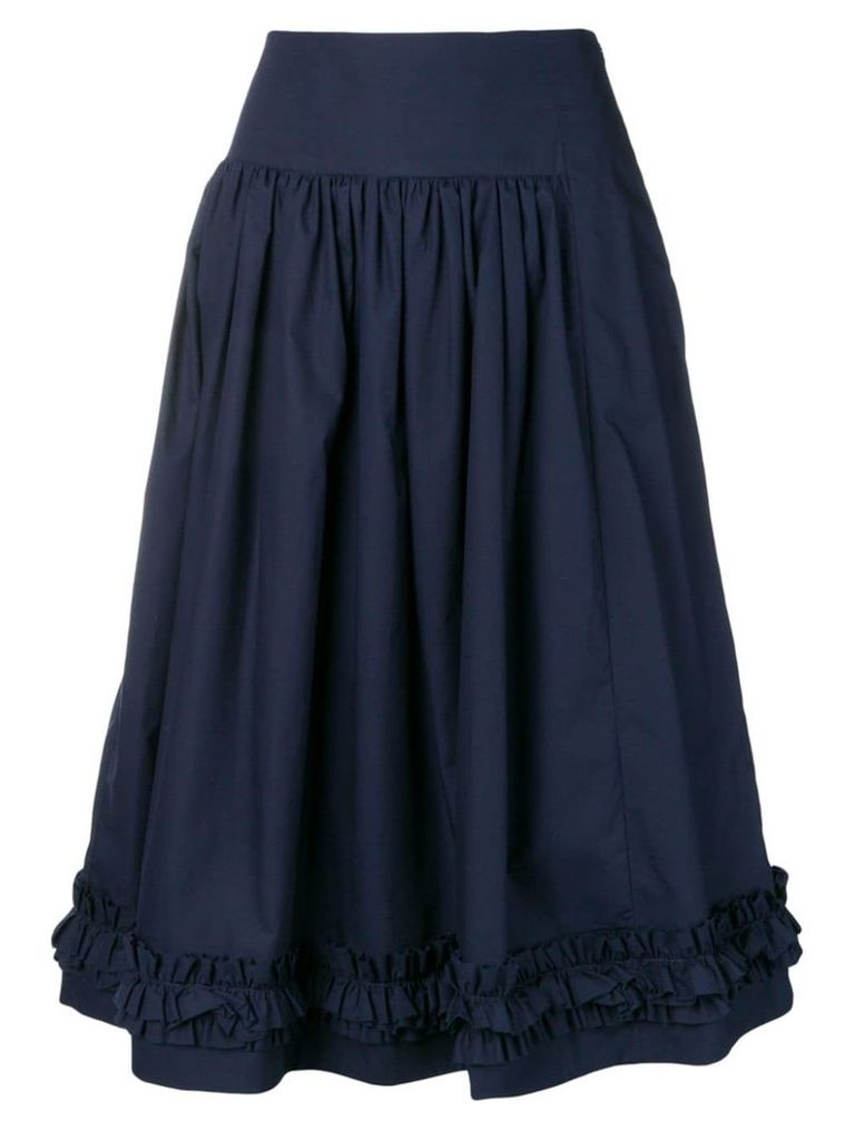 Molly Goddard navy pleated skirt - Blue