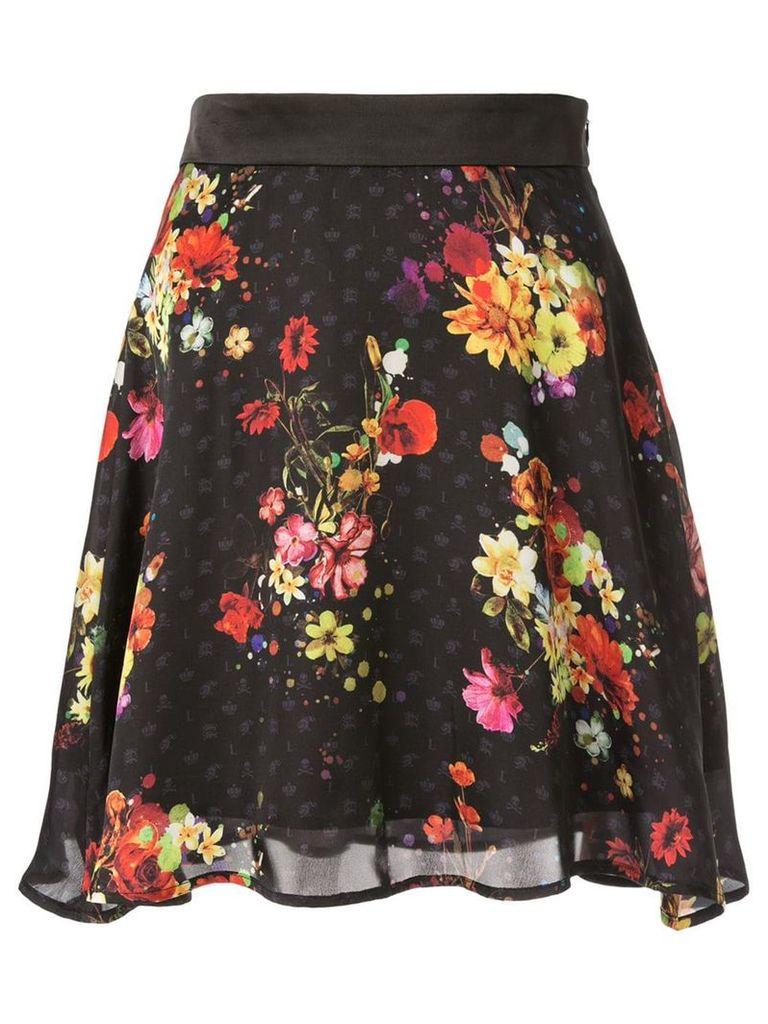 Loveless full floral skirt - Black