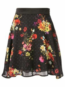 Loveless full floral skirt - Black