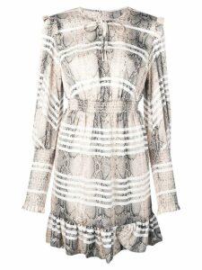 Three Floor Serpent Side mini dress - Neutrals