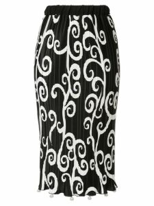 Romance Was Born Fortuny vine peal skirt - Black