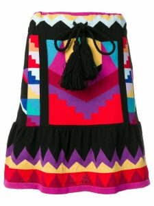 Laneus geometric pattern knit skirt - Black