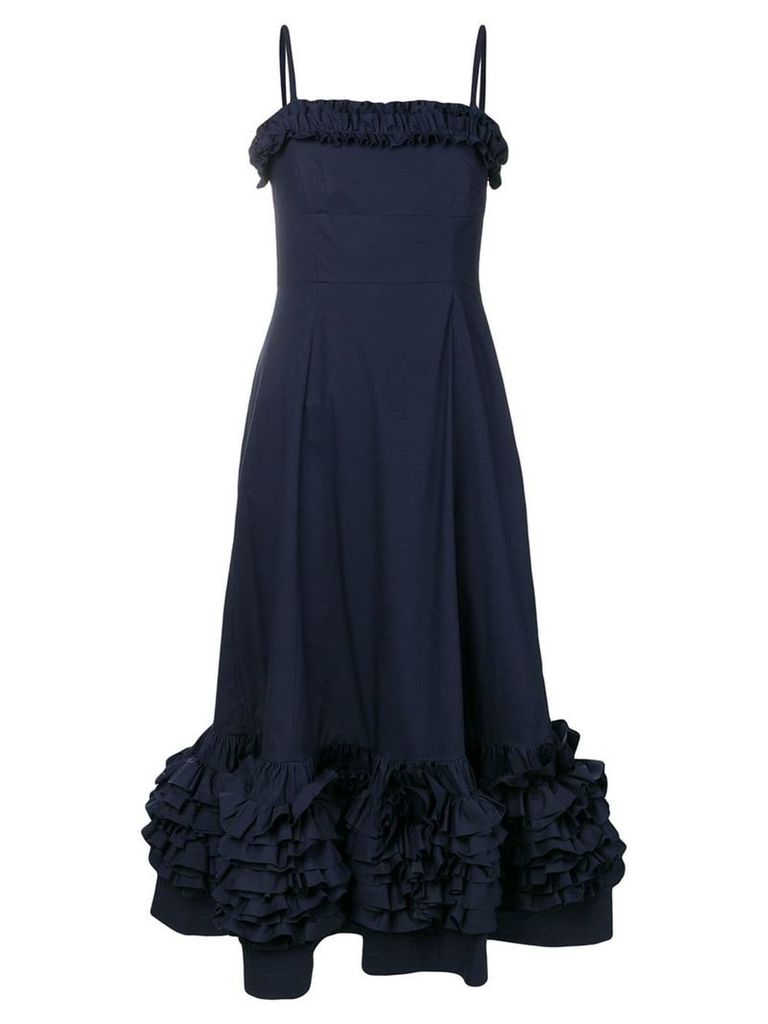Molly Goddard navy Susie dress - Blue