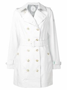Save The Duck double breasted trench coat - White