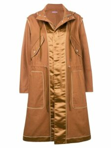 Sueundercover camel hooded raincoat - Brown
