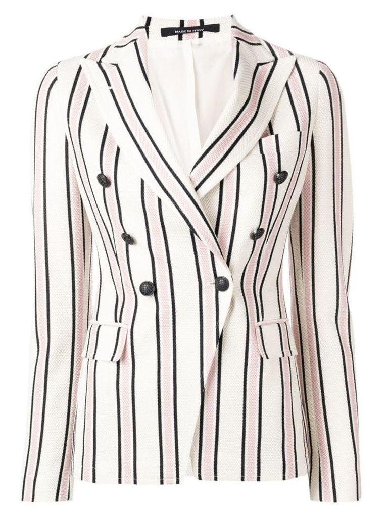 Tagliatore striped double-breasted blazer - Neutrals