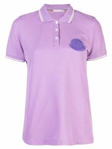 Moncler logo patch polo shirt - Purple