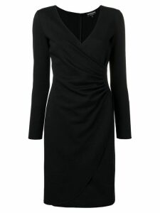 Emporio Armani wrap front dress - Black