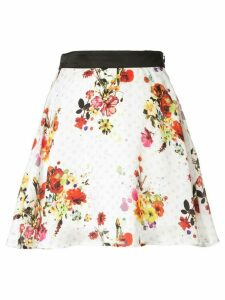 Loveless full floral skirt - White
