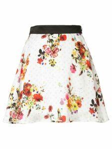 Loveless full floral skirt - White