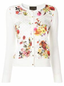 Loveless floral print cardigan - White