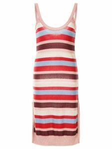 Suboo Midsummer knitted stripe mini dress - Pink