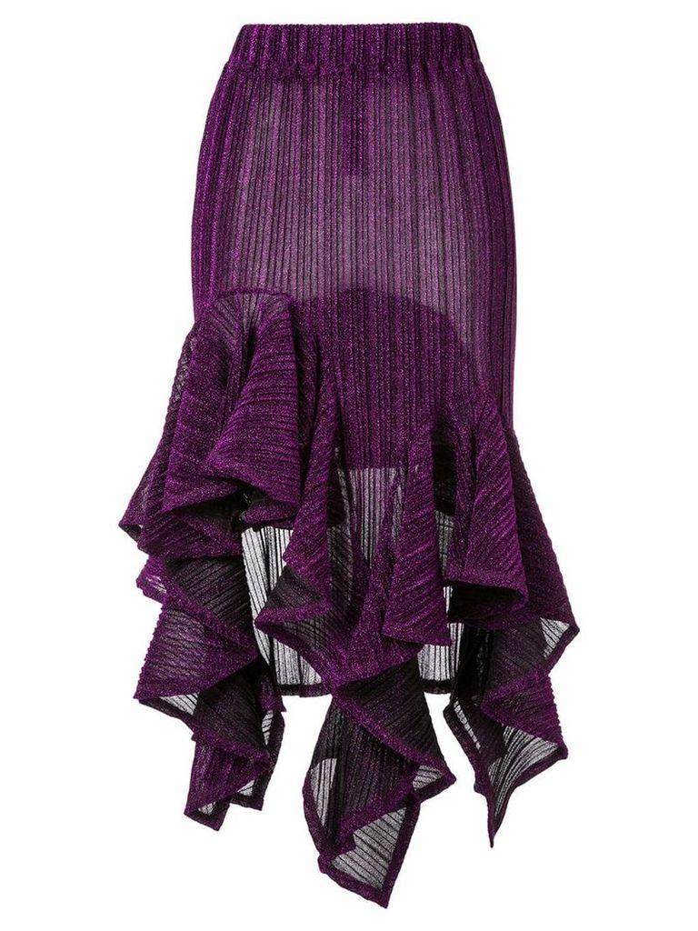 Romance Was Born sparkle flutter skirt - Purple
