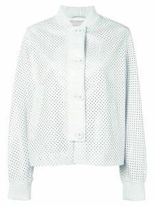 Simonetta Ravizza Ibiza leather jacket - White