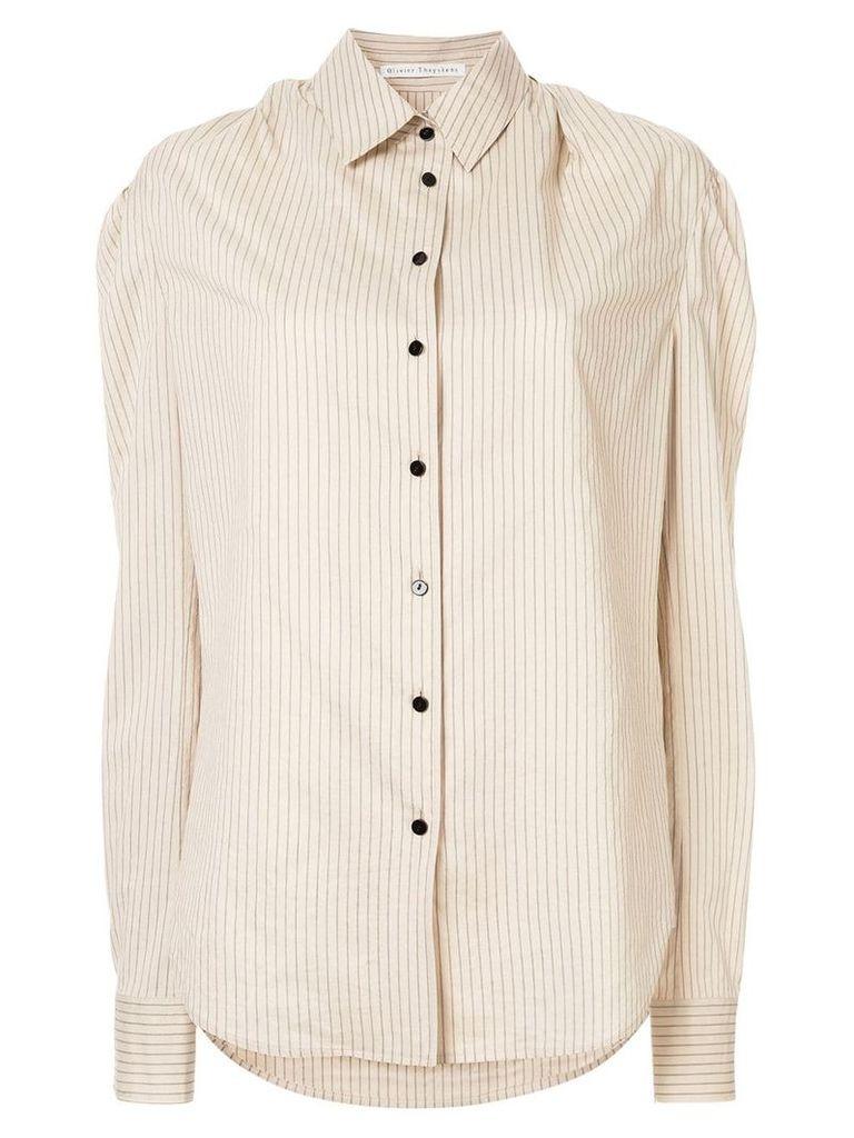Olivier Theyskens striped shirt - Neutrals