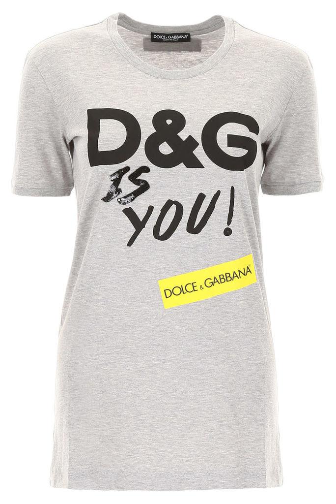 Dolce & Gabbana D & g Is You T-shirt