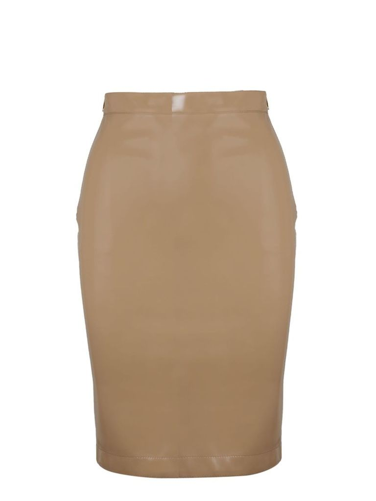 Burberry Vinyl Pencil Skirt