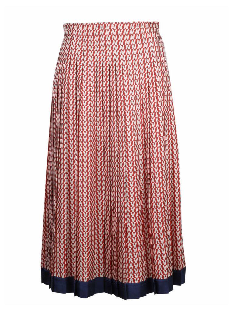 Valentino Optical Logo Print Skirt