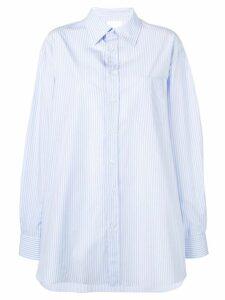 Maison Margiela pinstripe oversized shirt - Blue