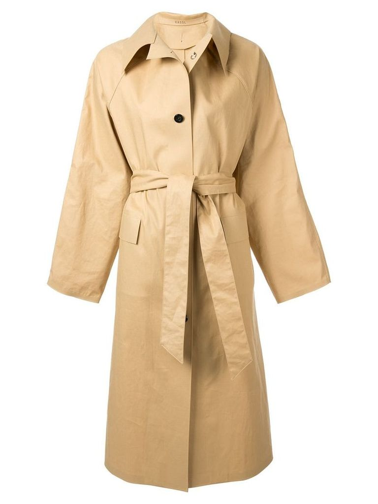 Kassl below the knee trench coat - Neutrals