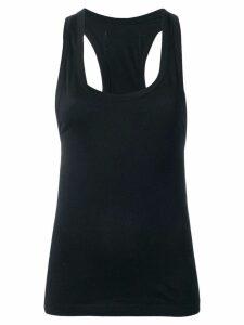 Sonia Rykiel logo label tank top - Black