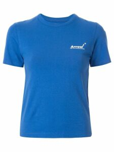 Ader Error logo print slim fit T-shirt - Blue