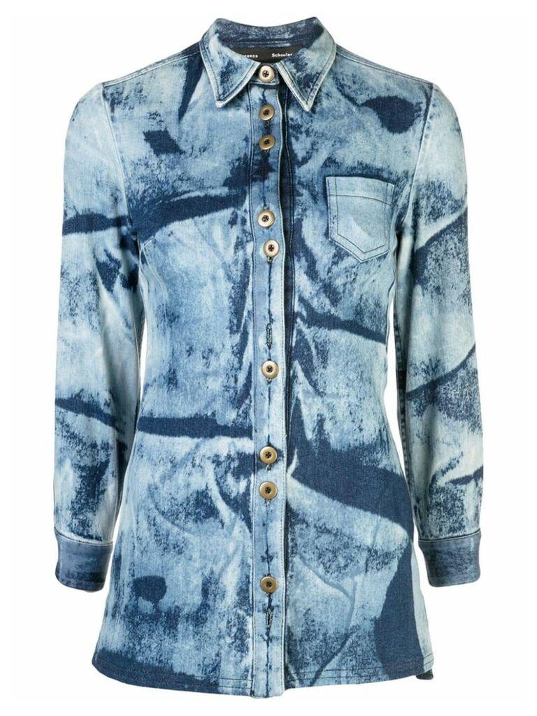 Proenza Schouler Bleached Denim Shirt - Blue