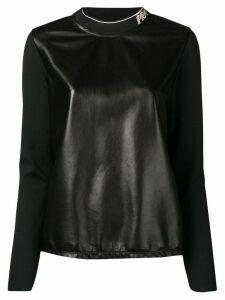 Prada logo collar sweatshirt - Black