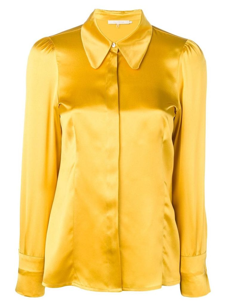L'Autre Chose satin blouse - Yellow