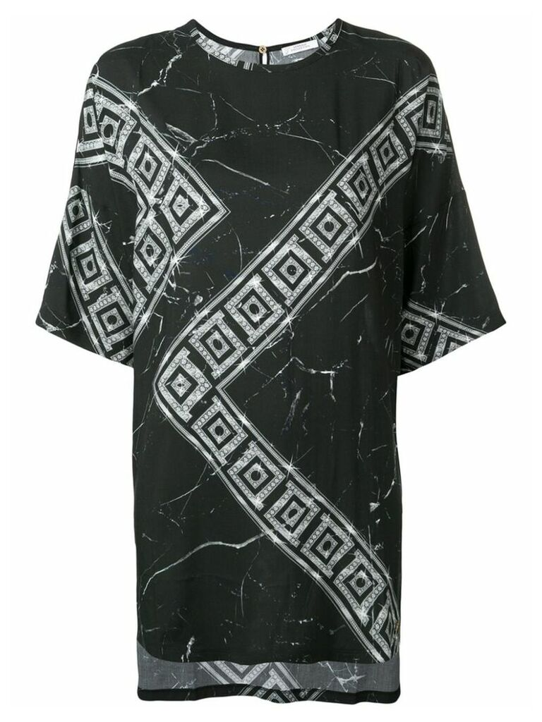 Versace Collection Greek Key print T-shirt - Black