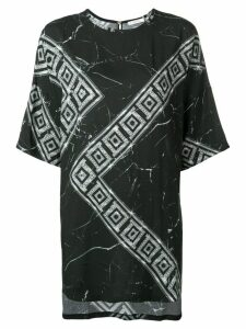 Versace Collection Greek Key print T-shirt - Black