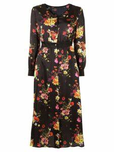 Loveless floral button-up dress - Black