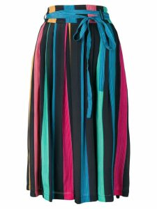 PS Paul Smith multi-stripe pleated skirt - Blue