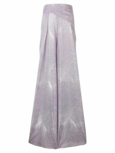 Talbot Runhof metallic long dress - Purple