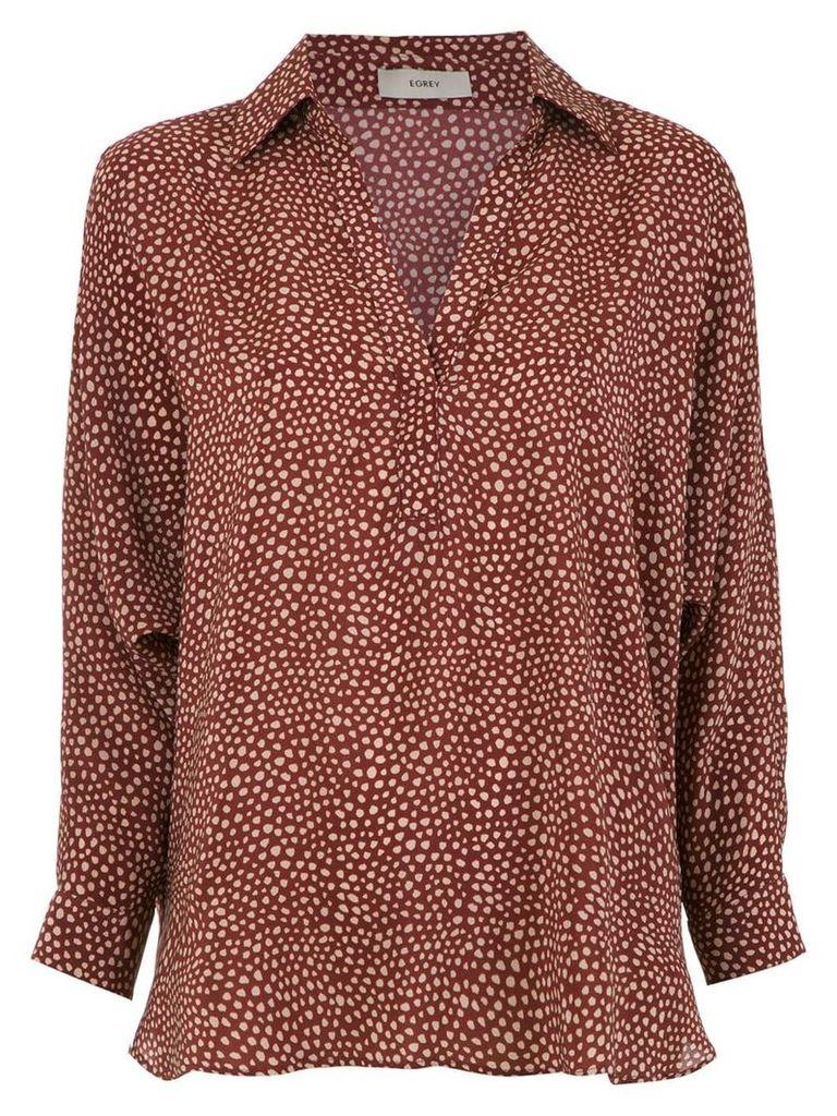 Egrey printed silk shirt - Multicolour